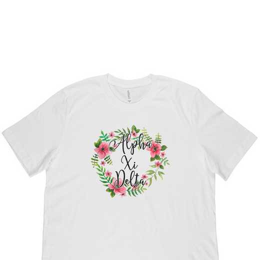 Alpha Xi Delta Floral Wreath T-Shirt White