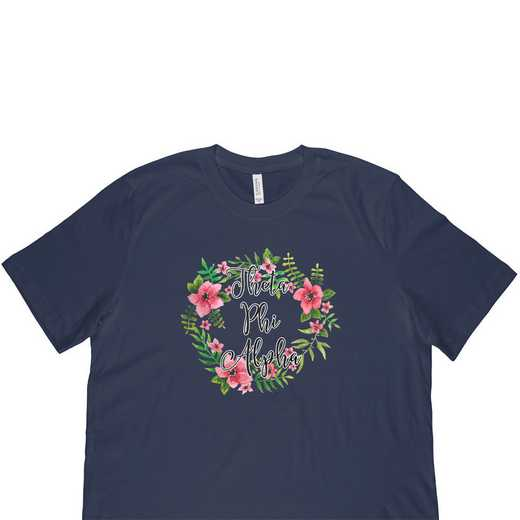 Theta Phi Alpha Floral Wreath T-Shirt-Blue