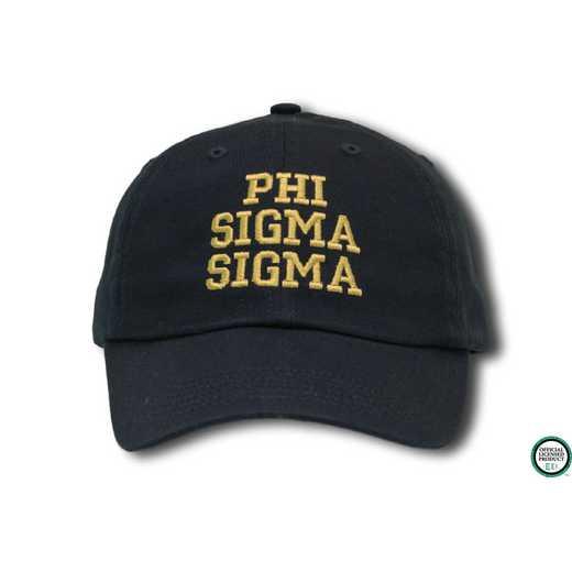 new arrivals 891b0 8576d Phi Sigma Sigma Athletic Baseball Cap-Black Yellow