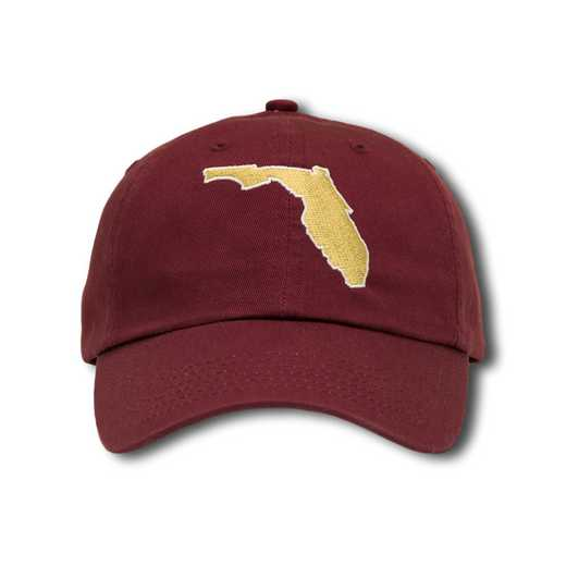 flfsu1: State of Florida Baseball Cap-Maroon/White