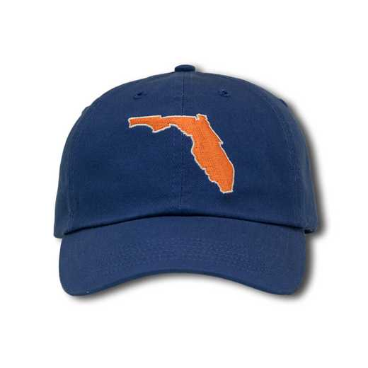 fluf1: State of Florida Baseball Cap-Purple/Orange
