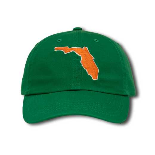 flum1: State of Florida Baseball Cap-Green/Orange