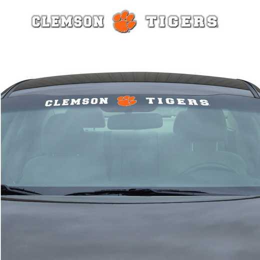 WSDU014: Clemson Auto Windshield Decal