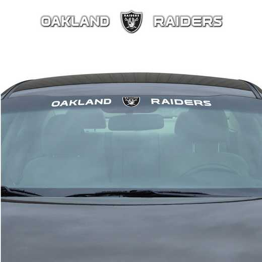 WSDNF22: Oakland Raiders Auto Windshield Decal