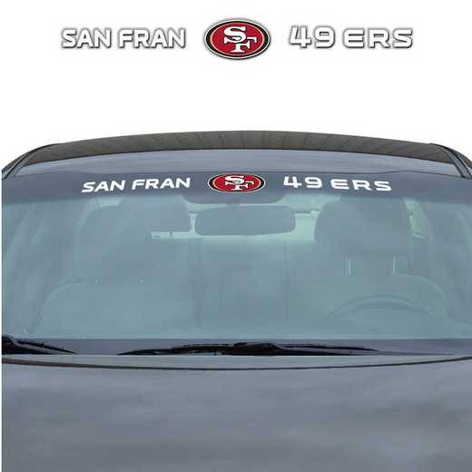 WSDNF26: San Francisco 49Ers Auto Windshield Decal
