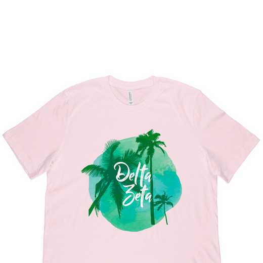 Delta Zeta Tropical Palm Tree Sunset-Pink