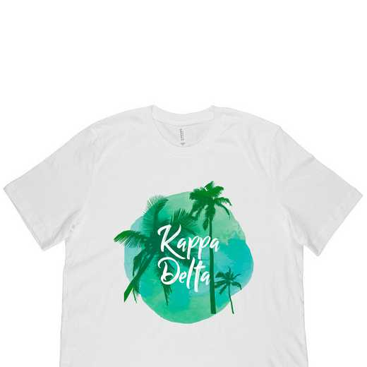 Kappa Delta Tropical Palm Tree Sunset-White