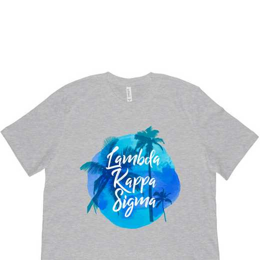 Lambda Kappa Sigma Tropical Palm Tree Sunset-Gray