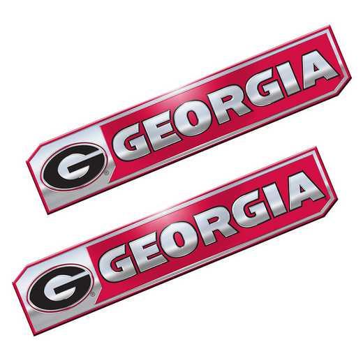 PEU020: Georgia Premium Aluminum Auto Emblem 2-Pack