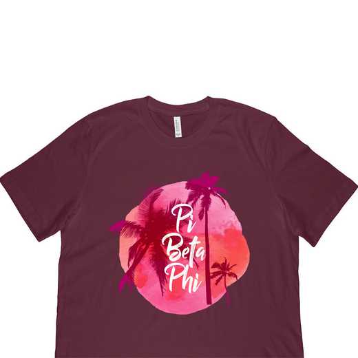 Pi Beta Phi Tropical Palm Tree Sunset-Maroon
