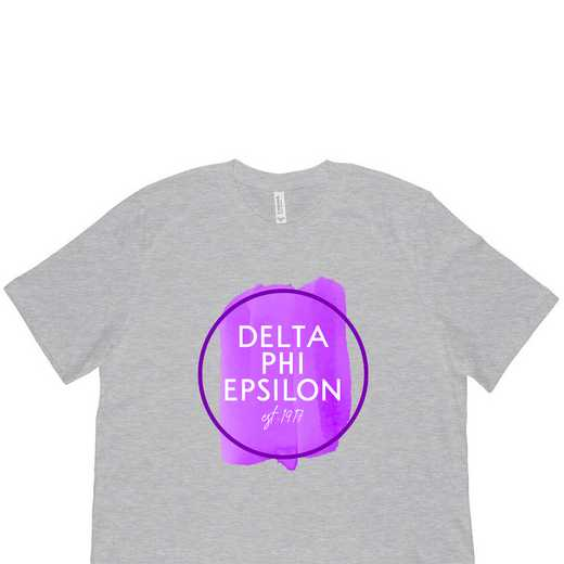 Delta Phi Epsilon Watercolor Circle-Gray
