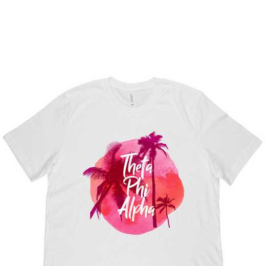 Theta Phi Alpha Tropical Palm Tree Sunset-White