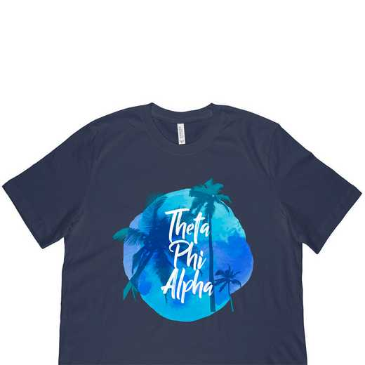 Theta Phi Alpha Tropical Palm Tree Sunset-Navy