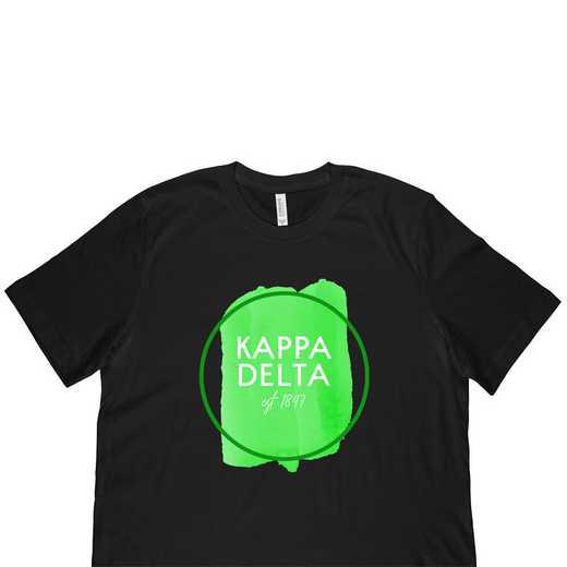 Kappa Delta Watercolor Circle-Black