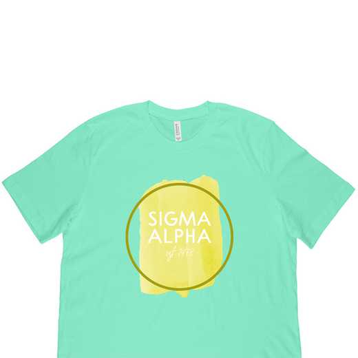Sigma Alpha Watercolor Circle-Green