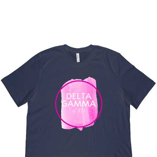 Delta Gamma Watercolor Circle-Blue