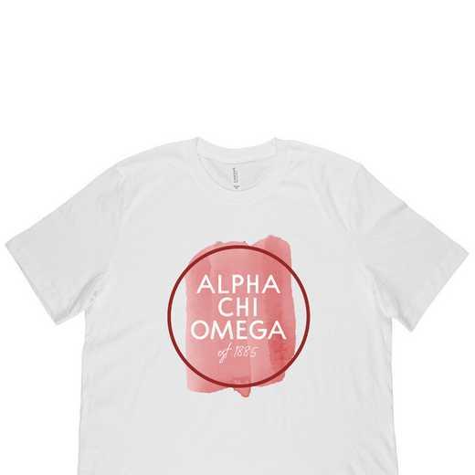 Alpha Chi Omega Watercolor Circle-White
