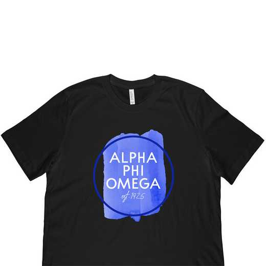 Alpha Phi Omega Watercolor Circle-Black