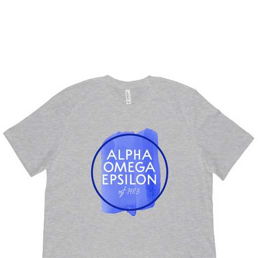 Alpha Omega Epsilon Watercolor Circle-Gray
