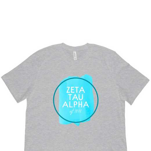 Zeta Tau Alpha Watercolor Circle-Gray