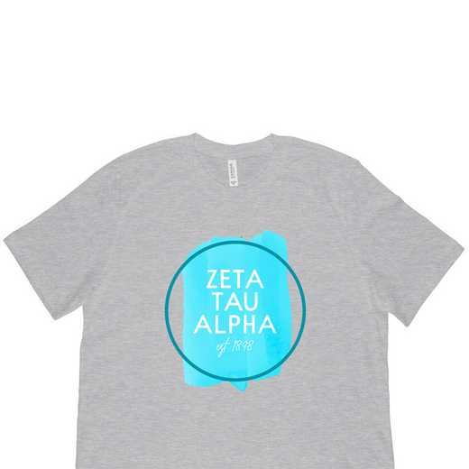 Zeta Tau Alpha Watercolor Circle-Gray