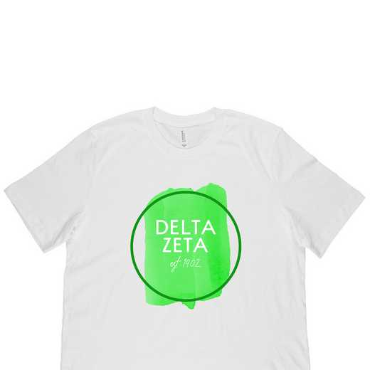 Delta Zeta Watercolor Circle-White