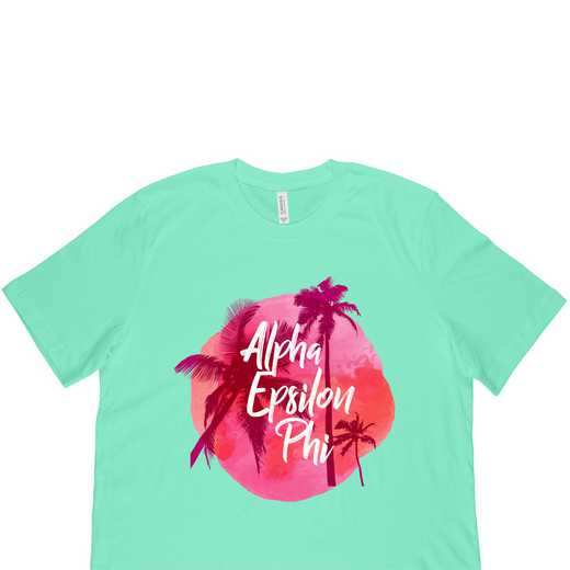 Alpha Epsilon Phi Tropical Palm Tree Sunset-Green