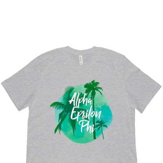 Alpha Epsilon Phi Tropical Palm Tree Sunset-Gray