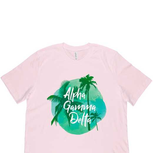 Alpha Gamma Delta Tropical Palm Tree Sunset-Pink