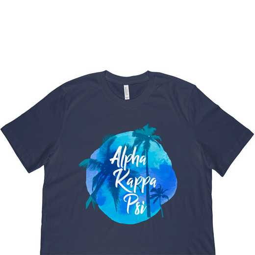 Alpha Kappa Psi Tropical Palm Tree Sunset-Black