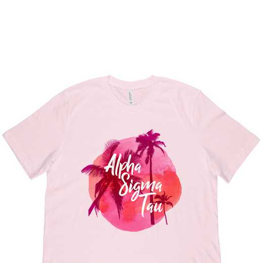 Alpha Sigma Tau Tropical Palm Tree Sunset-Pink
