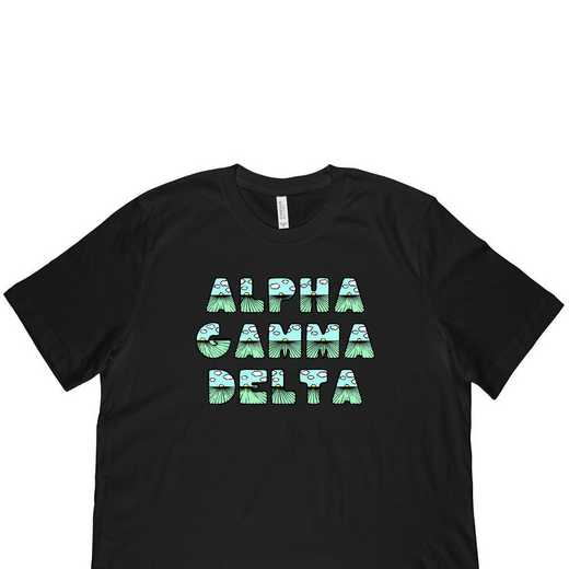 Alpha Gamma Delta Spring Sunrise Bubble Font-Black