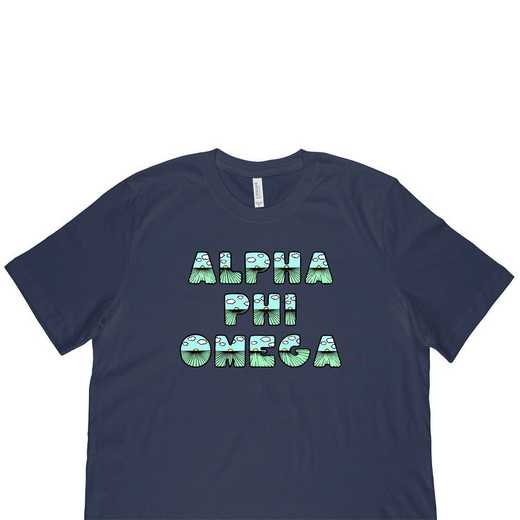 Alpha Phi Omega Spring Sunrise Bubble Font-Blue