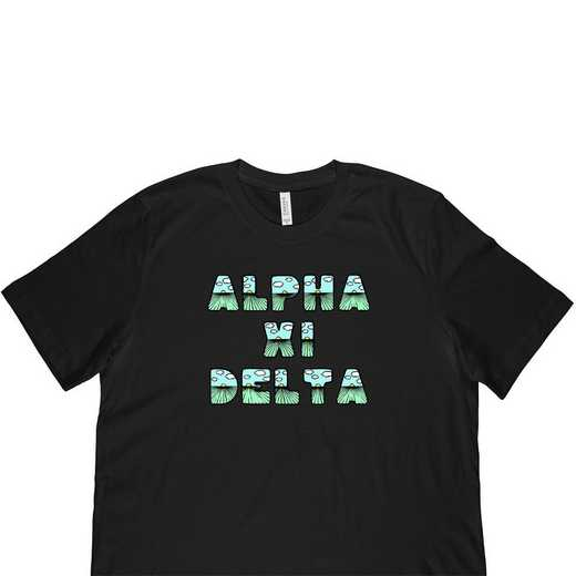Alpha Xi Delta Spring Sunrise Bubble Font-Black