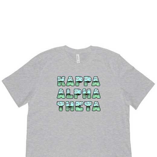 Kappa Alpha Theta Spring Sunrise Bubble Font-Gray