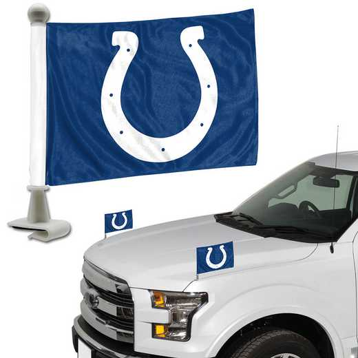 ABFNF13: Indiana Colts Auto Ambassador Flag Pair