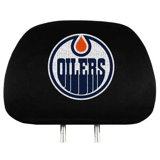 HRNH11: Edmonton Oilers Embroidered Headrest Cover Set