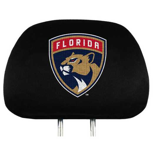 HRNH12: Florida Panthers Embroidered Headrest Cover Set