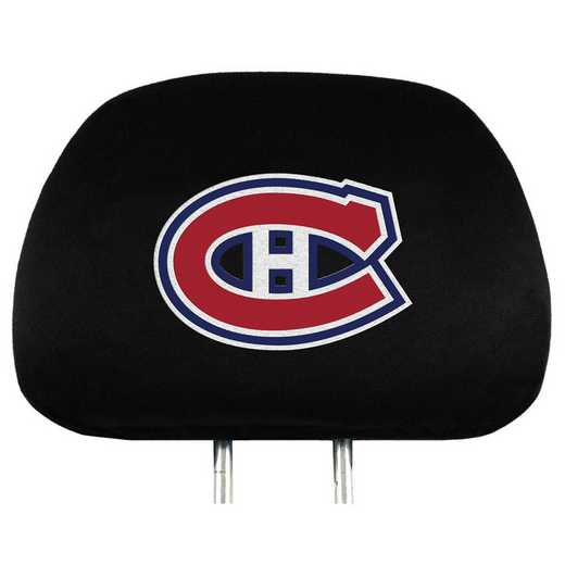 HRNH15: Montreal Canadiens Embroidered Headrest Cover Set