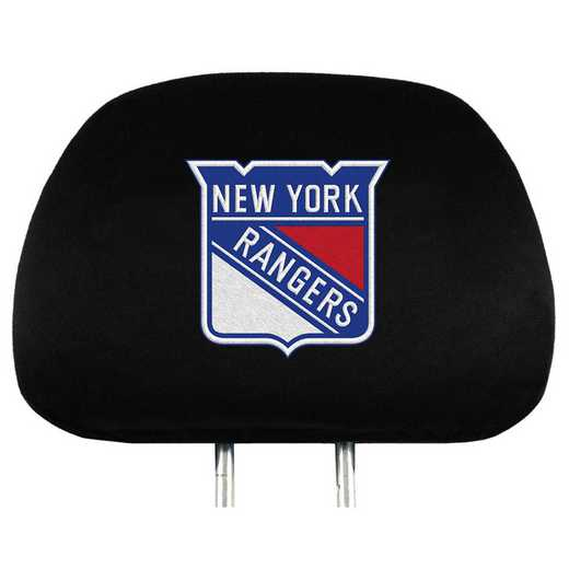 HRNH19: New York Rangers Embroidered Headrest Cover Set