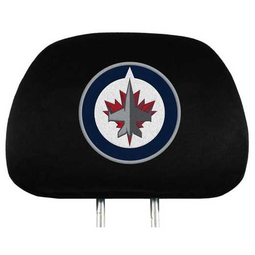 HRNH30: Winnipeg Jets Embroidered Headrest Cover Set