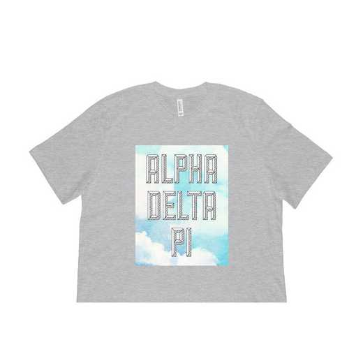 Alpha Delta Pi Watercolor Sky T-Shirt-Gray