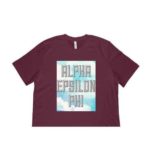 Alpha Epsilon Phi Watercolor Sky T-Shirt-Maroon