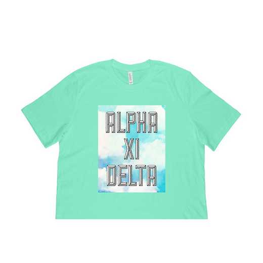 Alpha Xi Delta Watercolor Sky T-Shirt-Green
