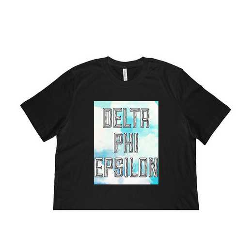 Delta Phi Epsilon Watercolor Sky T-Shirt-Black