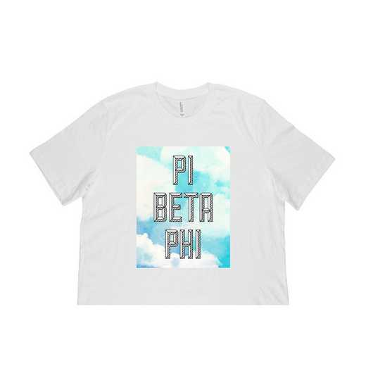 Pi Beta Phi Watercolor Sky T-Shirt-White