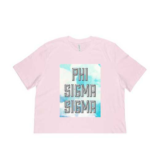 Phi Sigma Sigma Watercolor Sky T-Shirt-Pink