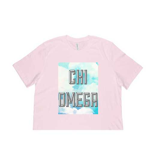 Chi Omega  Watercolor Sky T-Shirt-Pink