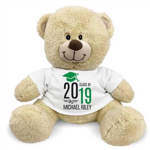 "8314007B13GN: PGS Bear Grad Cap 13"" Green"