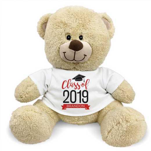 "8314006B13RD: PGS Bear Grad Banner 13"" Red"
